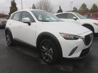 Clean CARFAX. Certified. Crystal White Pearl 2017 Mazda