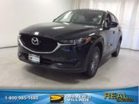 Certified. Jet Black 2017 Mazda CX-5 Touring AWD AWD