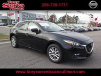 CARFAX One-Owner. Clean CARFAX. Black 2017 Mazda Mazda3