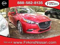 CARFAX One-Owner. Clean CARFAX. Red 2017 Mazda Mazda3