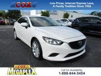 This 2017 Mazda6 Touring in Snowflake White Pearl Mica