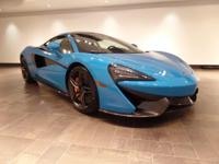 This 2017 McLaren 570S Coupe is featured in Mexico Blue