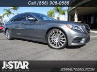 Grand and graceful, this 2017 Mercedes-Benz S-Class