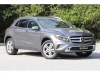 Certified. Grey 2017 Mercedes-Benz GLA 250 2.0L I4 DI