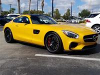 Certified. CARFAX One-Owner. AMG Solarbeam Yellow