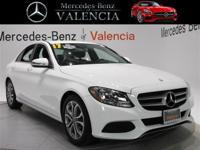 White 2017 Mercedes-Benz C-Class C 300 4D Sedan RWD