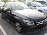 CARFAX One-Owner. Black 2017 Mercedes-Benz C-Class C