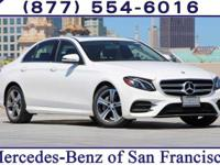 Polar White 2017 Mercedes-Benz E-Class RWD 9-Speed