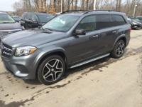 2017 Mercedes-Benz GLS GLS550 in Selenite Gray. Blind