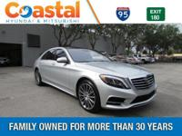 This 2017 Mercedes-Benz S-Class S550 in Iridium Silver