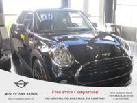 2017 MINI Cooper Midnight Black Metallic  And much