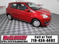 Super Clean 2017 Mitsubishi Mirage ES offering 1.2L 3I