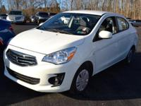 This 2017 Mitsubishi Mirage G4 4dr ES Manual features a