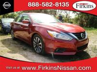 CARFAX One-Owner. Clean CARFAX. Red 2017 Nissan Altima