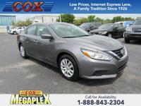 This 2017 Nissan Altima 2.5 S in Gun Metallic is well