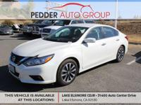 CVT with Xtronic Clean CARFAX. White 2017 Nissan Altima