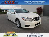 This 2017 Nissan Altima 2.5 in White is well equipped