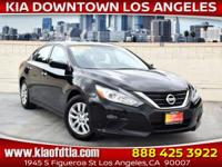 Clean CARFAX. Black 2017 Nissan Altima 2.5 S 4D Sedan