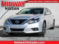 2017 Nissan Altima 2.5 SR CVT with Xtronic. 37/26