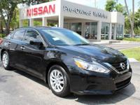 CARFAX One-Owner. Certified. Super Black 2017 Nissan