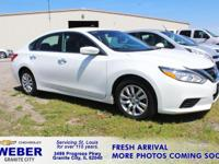 Recent Arrival! White Nissan Altima **ANOTHER WEBER