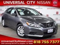 Clean CARFAX. Certified. Gray 2017 Nissan Altima 2.5 S