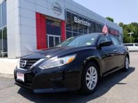 New Price! Certified. Super Black 2017 Nissan Altima