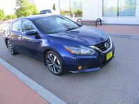 Here is a blue Altima SR with low mileage, you have to