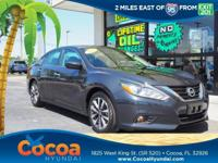 This 2017 Nissan Altima 2.5 SV in Blue features: Recent