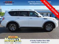 This 2017 Nissan Armada Platinum in Pearl White is well