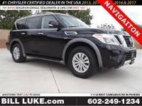 Options:  2017 Nissan Armada Sv|Black|Navigation!!!!