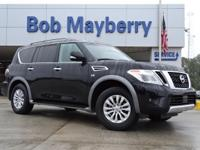 Super Black 2017 Nissan Armada SV RWD 7-Speed Automatic