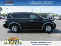 This 2017 Nissan Armada SV in Super Black is well