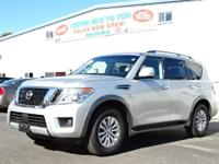 CARFAX One-Owner. Super Black 2017 Nissan Armada SV AWD