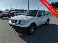 2017 Nissan Frontier S 4.0L V6 DOHC White CARFAX