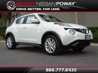 Juke S, Nissan Certified, and Pearl White. Turbo!