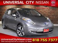 Clean CARFAX. Certified. Gray 2017 Nissan Leaf SL 4D