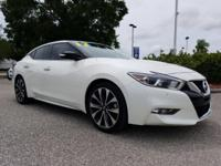 CARFAX One-Owner. Clean CARFAX. Pearl White 2017 Nissan
