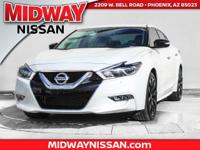 2017 Nissan Maxima SR 30/21 Highway/City MPGAwards:  *