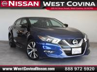 New Price! Clean CARFAX. Blue 2017 Nissan Maxima 3.5 SV