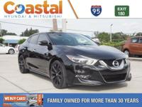 This 2017 Nissan Maxima SR in Super Black features: FWD