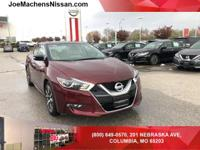 Clean CARFAX. Coulis Red 2017 Nissan Maxima 3.5 SL FWD