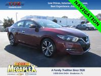 This 2017 Nissan Maxima 3.5 SV in Coulis Red is well