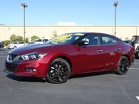 Clean CARFAX. Coulis Red 2017 Nissan Maxima Platinum