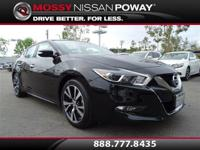 Maxima Platinum, Nissan Certified, Super Black, and