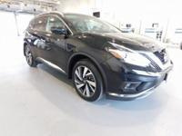 Clean CARFAX. Black 2017 Nissan Murano AWD CVT with