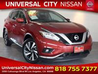 Clean CARFAX. Certified. Red 2017 Nissan Murano