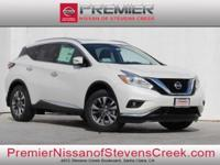 Pearl White 2017 Nissan Murano SL FWD CVT with Xtronic