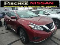 2017 Nissan Murano SL 3.5L 6-Cylinder Cayenne Red