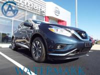 2017 Nissan Murano SL CVT with Xtronic, AWD,